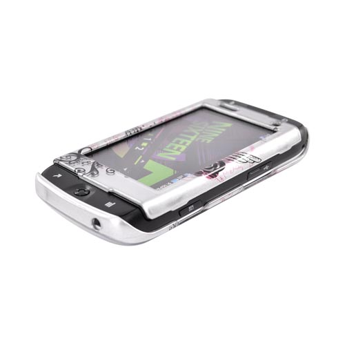 Samsung Sidekick 4G Hard Case - Red Heart w/ Wings on Silver