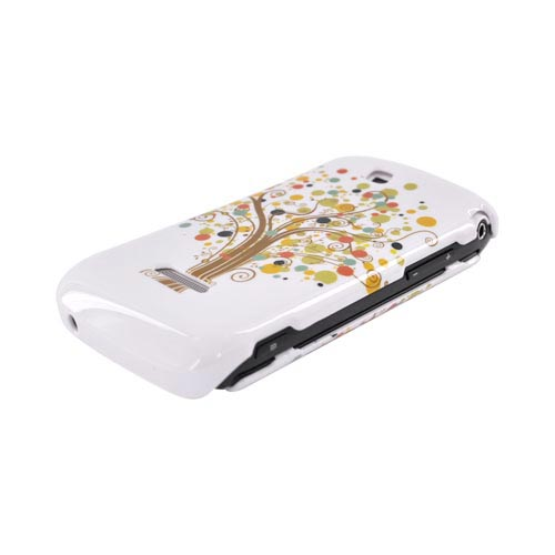 Samsung Sidekick 4G Hard Case - Brown Tree & Dots on White