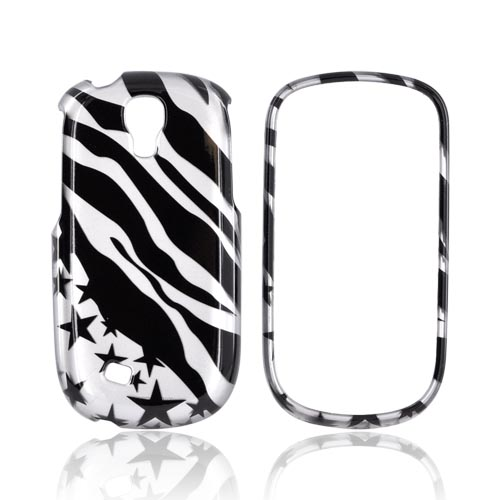 Samsung Gravity Smart Hard Case - Black Zebra & Stars on Silver