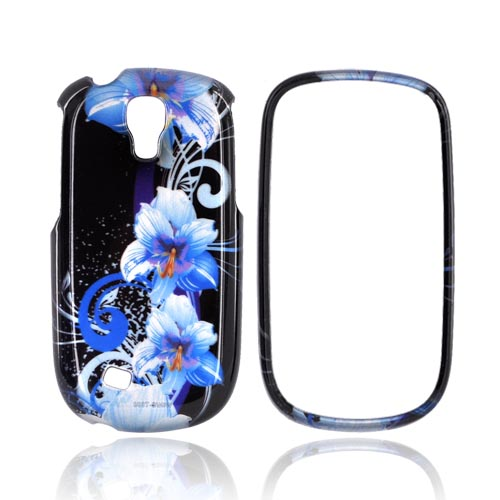 Samsung Gravity Smart Hard Case - Blue Flowers on Black