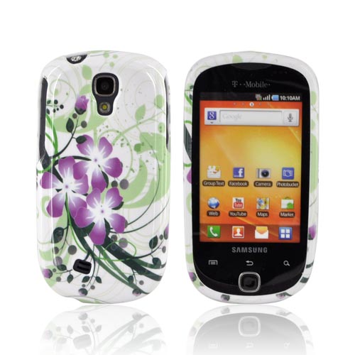 Samsung Gravity Smart Hard Case - Purple Lilly on Green/ Purple