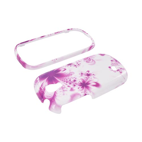Samsung Gravity Smart Hard Case - Magenta/ Purple Flowers on White