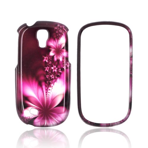 Samsung Gravity Smart Hard Case - Pink Flowers on Maroon