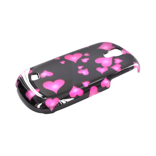 Samsung Gravity Smart Hard Case - Pink Hearts on Black
