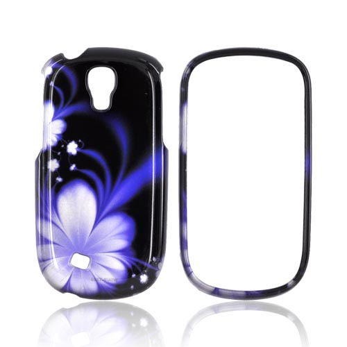 Samsung Gravity Smart Hard Case - Purple Flowers on Black