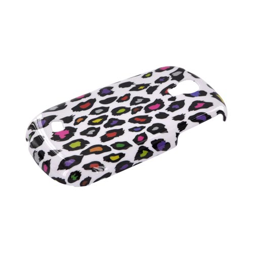 Samsung Gravity Smart Hard Case - Rainbow Leopard on White