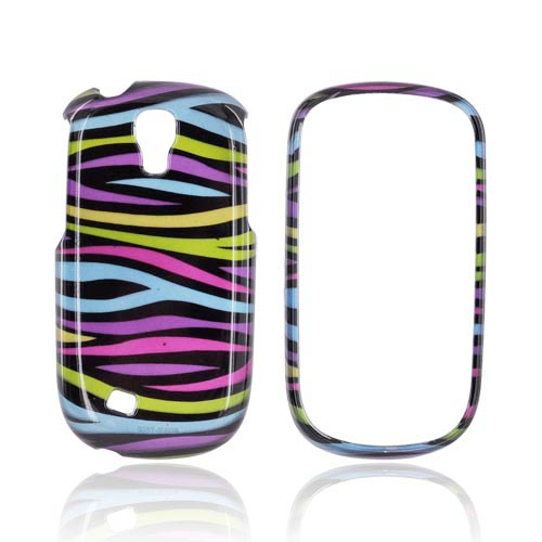 Samsung Gravity Smart Hard Case - Rainbow Zebra on Black
