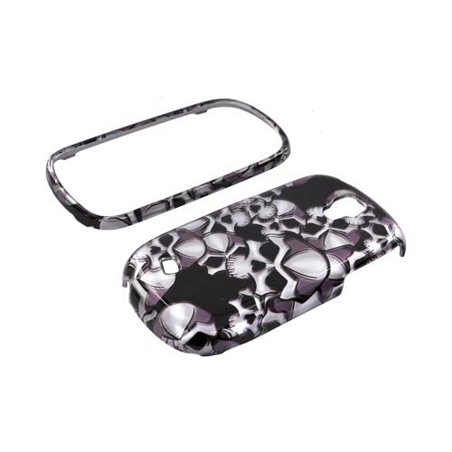 Samsung Gravity Smart Hard Case - Silver Skulls on Black