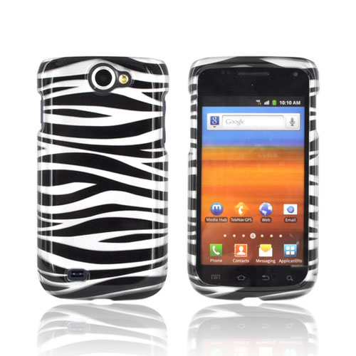 Samsung Exhibit 2 4G Hard Case - Black/ Silver Zebra