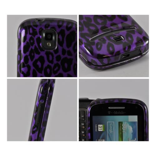 Purple/ Black Leopard Hard Case for Samsung Galaxy S Relay 4G