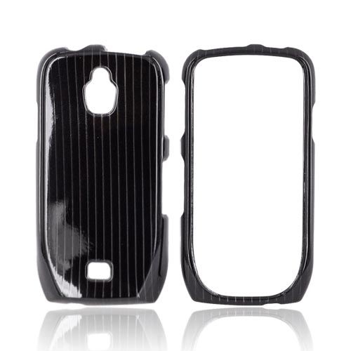 Samsung Exhibit T759 Hard Case - Silver Lines on Black
