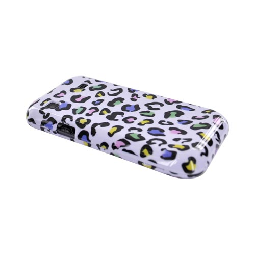 Samsung Galaxy S 4G / Vibrant Hard Case - Colorful Leopard on White