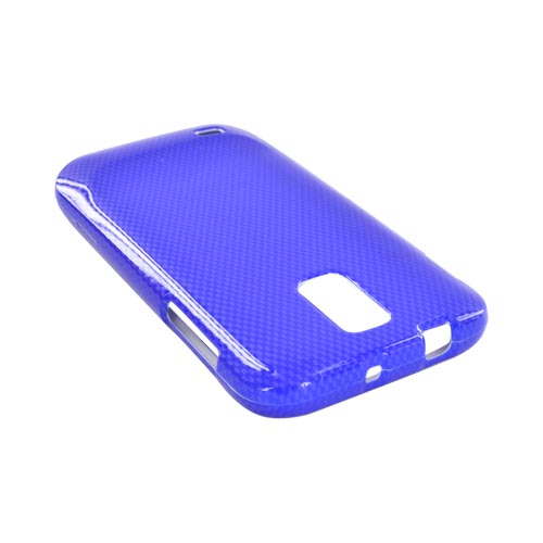 T-Mobile Samsung Galaxy S2 Hard Case - Blue Carbon Fiber