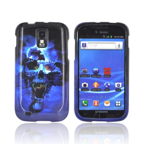 T-Mobile Samsung Galaxy S2 Hard Case - Blue Skull