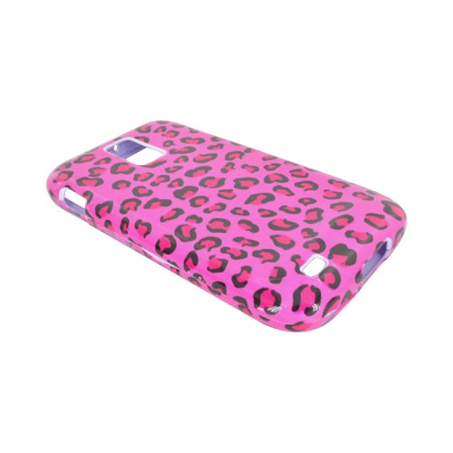 T-Mobile Samsung Galaxy S2 Hard Case - Hot Pink/ Black Leopard