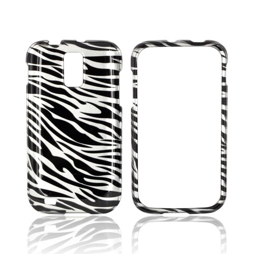 T-Mobile Samsung Galaxy S2 Hard Case - Black/ Silver Zebra