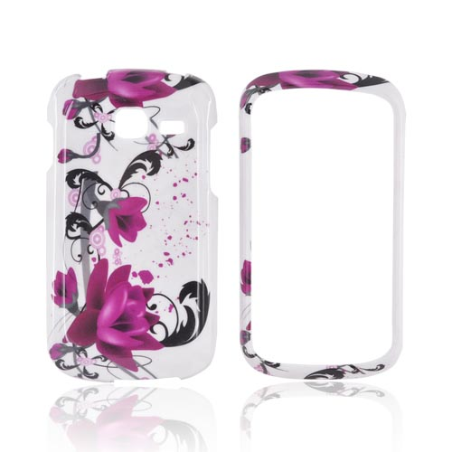 Samsung Transfix Hard Case - Pink Flowers on White