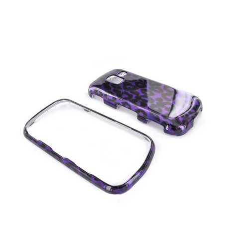 Samsung Intensity III Hard Case - Purple/ Black Leopard