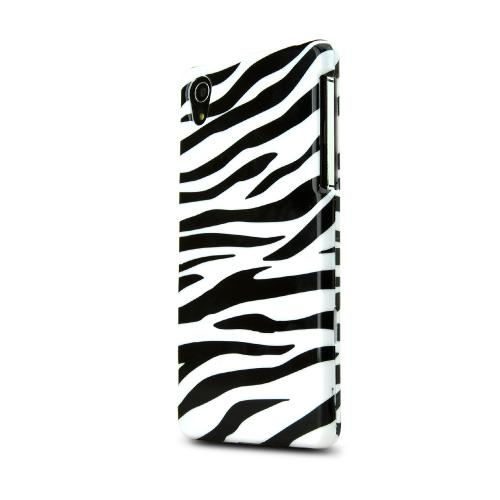 Black Zebra On White Sony Xperia Z2 Plastic Hard Case Cover, Great Basic Protection!