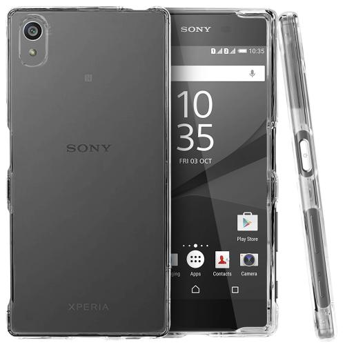 Sony Xperia Z5 Case, [Clear] Slim & Protective Crystal Glossy Hard Plastic Case