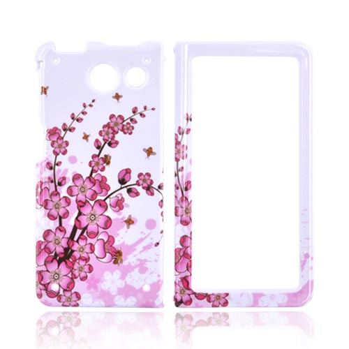 Sanyo Innuendo 6780 Hard Case - Pink Cherry Blossom on White