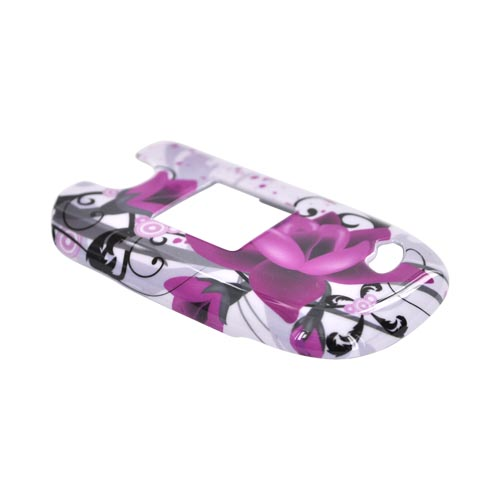 ZTE Captr II A210 Hard Case - Pink Flowers on White
