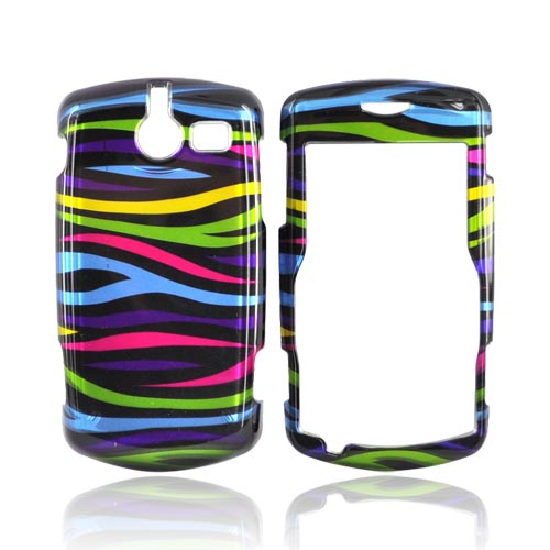 ZTE TXTM8 3G A410 Hard Case - Rainbow Zebra on Black