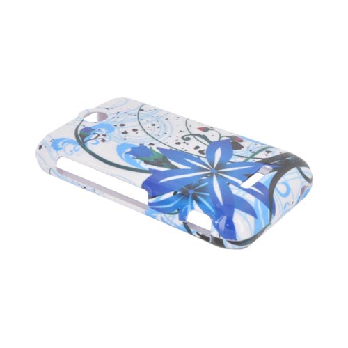 ZTE Score Hard Case - Blue Flower Splash on White