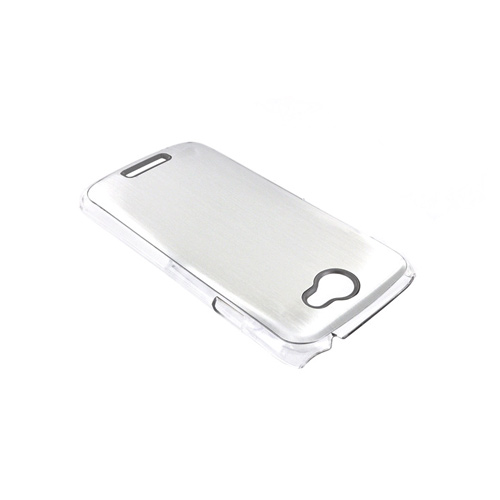 HTC One S Hard Back Clear Case w/ Aluminum - Silver