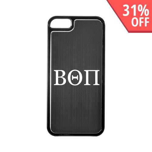 Apple iPhone 5/5S Hard Back Cover w/ Black Aluminum Back - Beta Theta Pi
