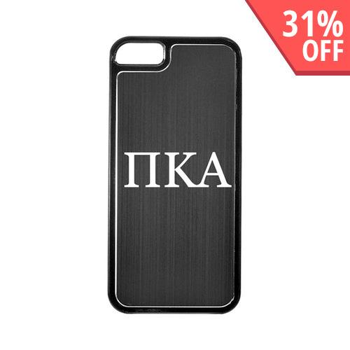 Apple iPhone 5/5S Hard Back Cover w/ Black Aluminum Back - Pi Kappa Alpha