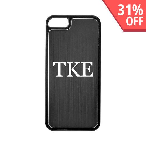 Apple iPhone 5/5S Hard Back Cover w/ Black Aluminum Back - Tau Kappa Epsilon