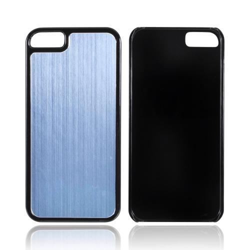 Apple iPhone 5/5S Hard Back Cover w/ Aluminum Back - Blue/ Black