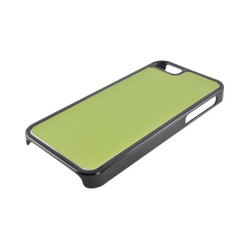 Apple iPhone SE / 5 / 5S  Case,  [Green/ Black]  Hard Back Cover w/ Aluminum Back Case