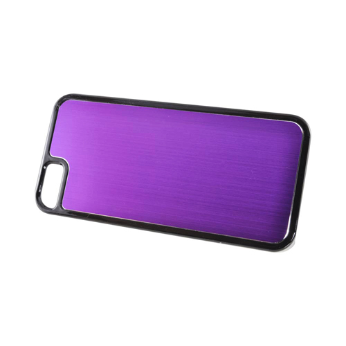 Apple iPhone SE / 5 / 5S  Case,  [Purple/ Black]  Hard Back Cover w/ Aluminum Back Case