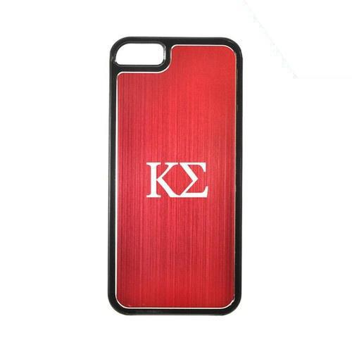 Apple iPhone 5/5S Hard Back Cover w/ Red Aluminum Back - Kappa Sigma