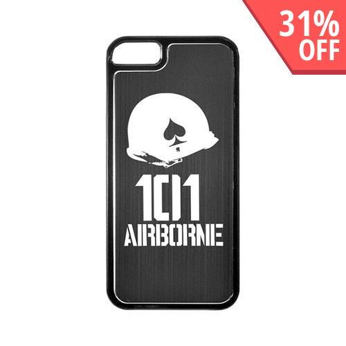 Apple iPhone 5/5S Hard Back Cover w/ Black Aluminum Back - 101st Airborne