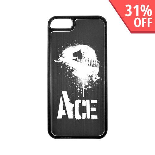 Apple iPhone 5/5S Hard Back Cover w/ Black Aluminum Back - Ace Helmet