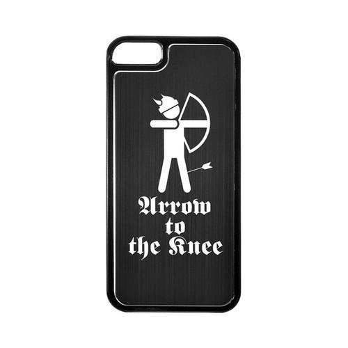 Apple iPhone 5/5S Hard Back Cover w/ Black Aluminum Back - Arrow to the Knee