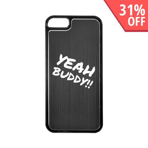Apple iPhone 5/5S Hard Back Cover w/ Black Aluminum Back - Yeah Buddy!