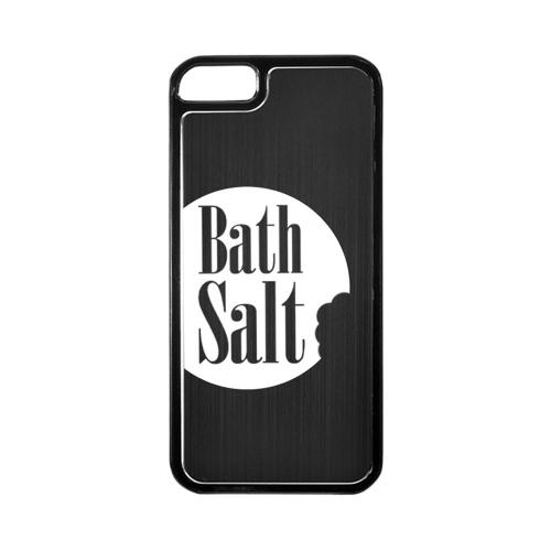 Apple iPhone 5/5S Hard Back Cover w/ Black Aluminum Back - Bath Salt Bite
