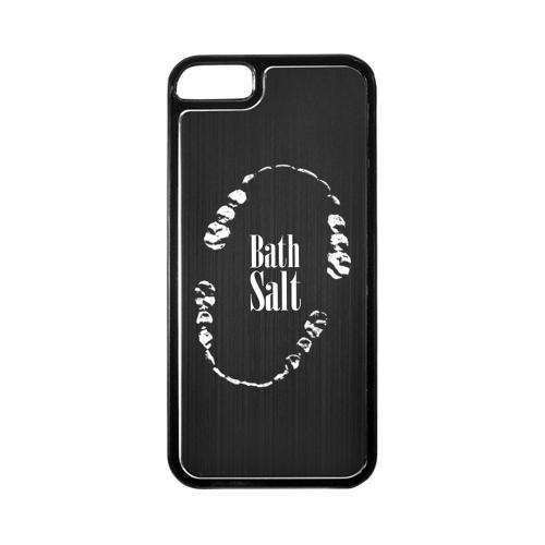 Apple iPhone 5/5S Hard Back Cover w/ Black Aluminum Back - Bath Salt Teeth