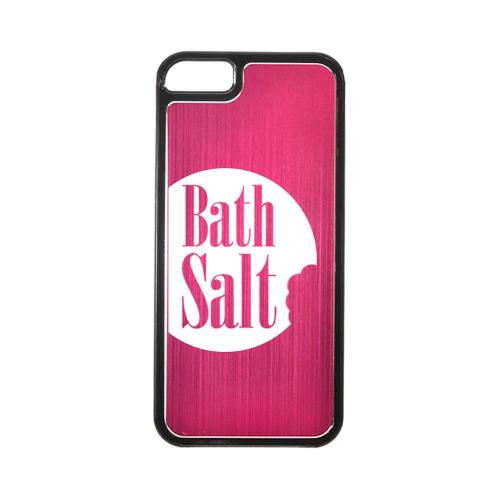 Apple iPhone 5/5S Hard Back Cover w/ Hot Pink Aluminum Back - Bath Salt Bite