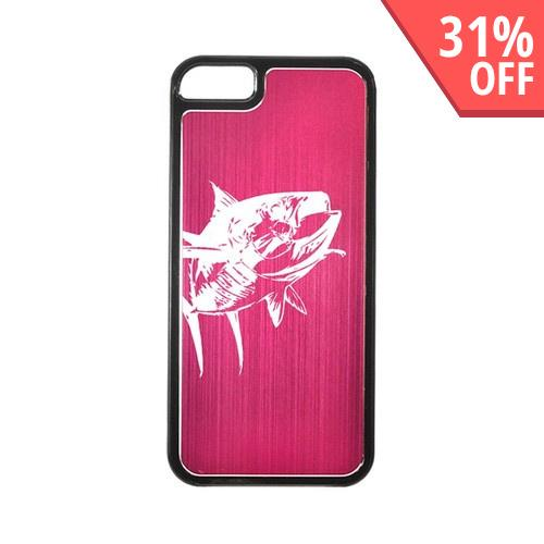 Apple iPhone 5/5S Hard Back Cover w/ Hot Pink Aluminum Back - Yellowfin