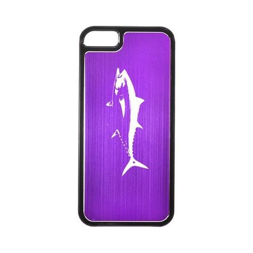 Apple iPhone 5/5S Hard Back Cover w/ Purple Aluminum Back - Tuna