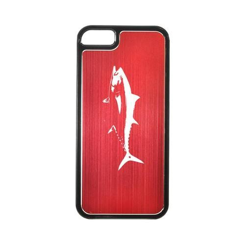 Apple iPhone 5/5S Hard Back Cover w/ Red Aluminum Back - Tuna