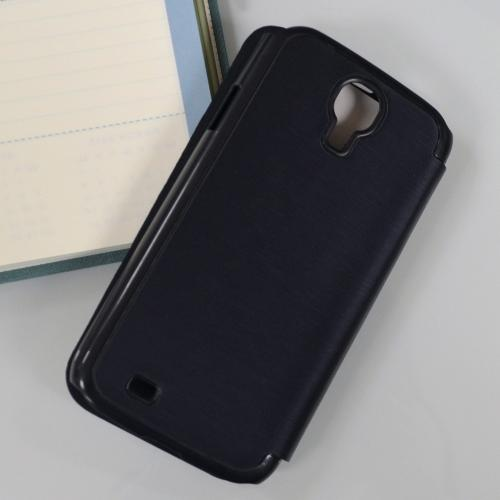 Navy Blue Exclusive AccessoryGeeks Flip Cover Case w/ ID Slot, Satin Cover & Free Screen Protector for Samsung Galaxy S4