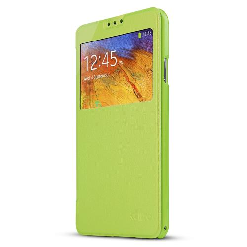 Lime Green  Windowed Flip Cover w/ Free Screen Protector for Samsung Galaxy Note 3