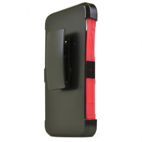 HTC Desire 626/ 626S Holster Case, [Red] Supreme Protection Plastic on Silicone Dual Layer Hybrid Case