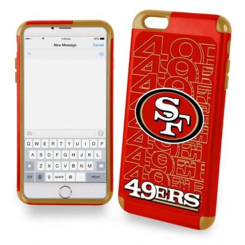 Apple iPhone 6/6S Plus (5.5 inch) NFL Case, Slim Dual layer Hybrid Hard Case on TPU Case [San Francisco 49ers]